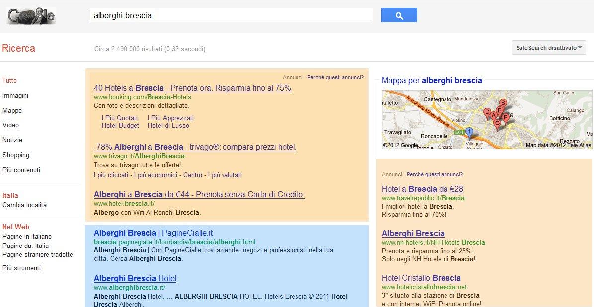 google above the fold